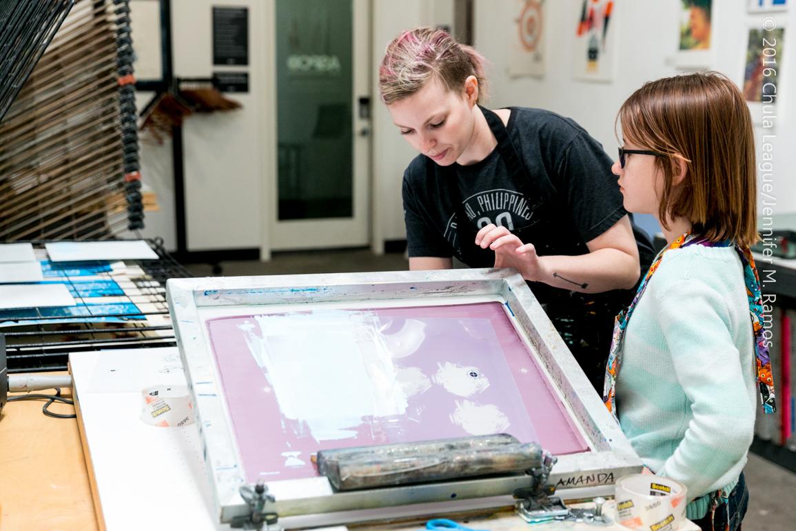 Emily Cano BIG ARTIST to little artist Emma D.