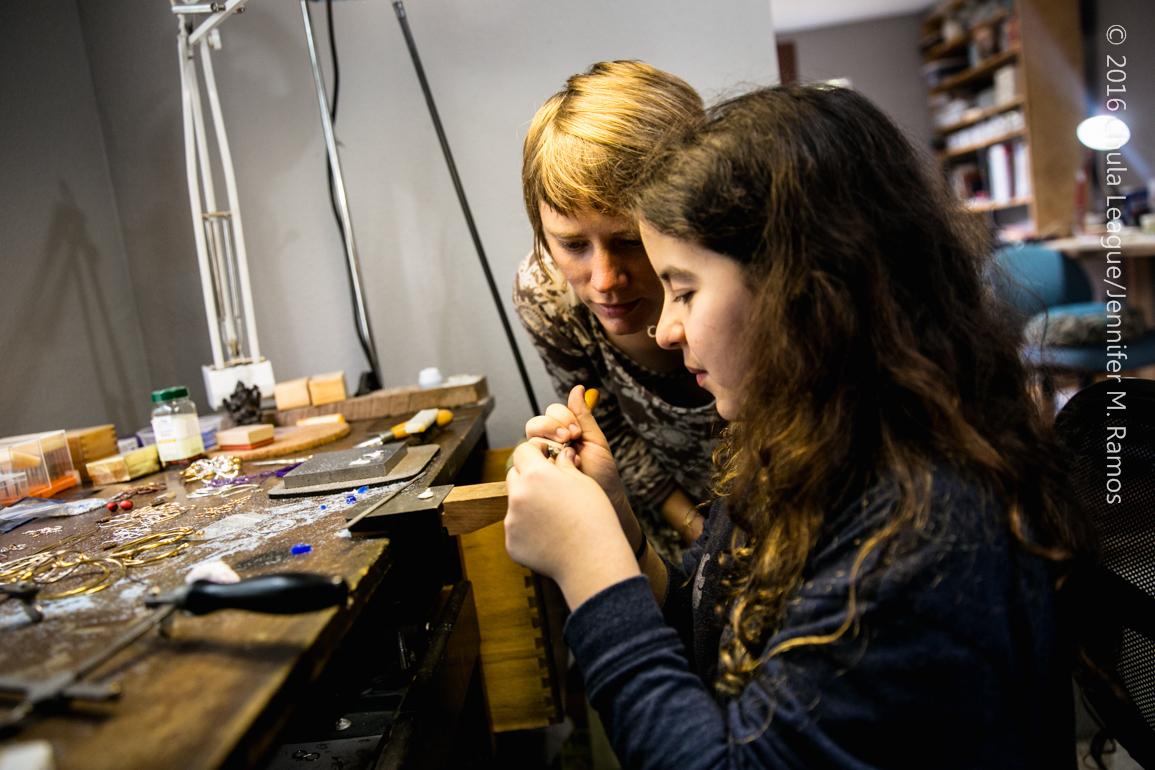 Emily Spykman BIG ARTIST to little artist Jenevie