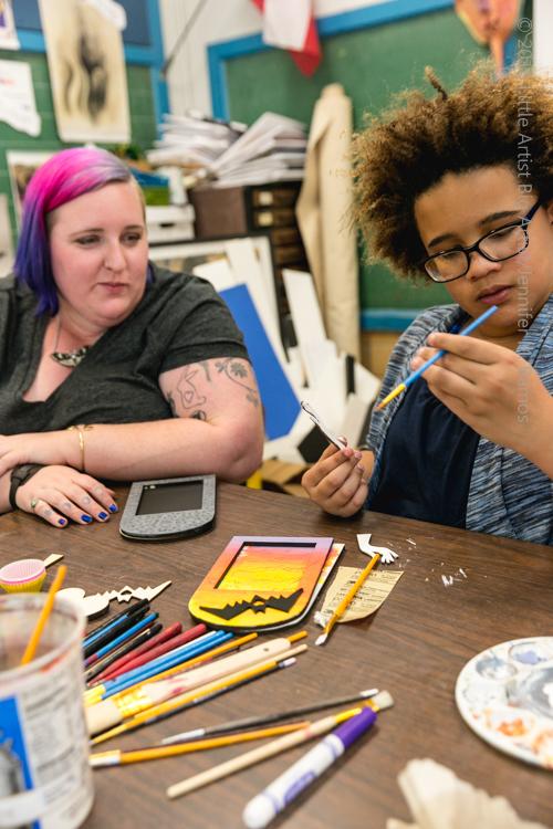 Katie Cowden BIG ARTIST to little artist Lauren