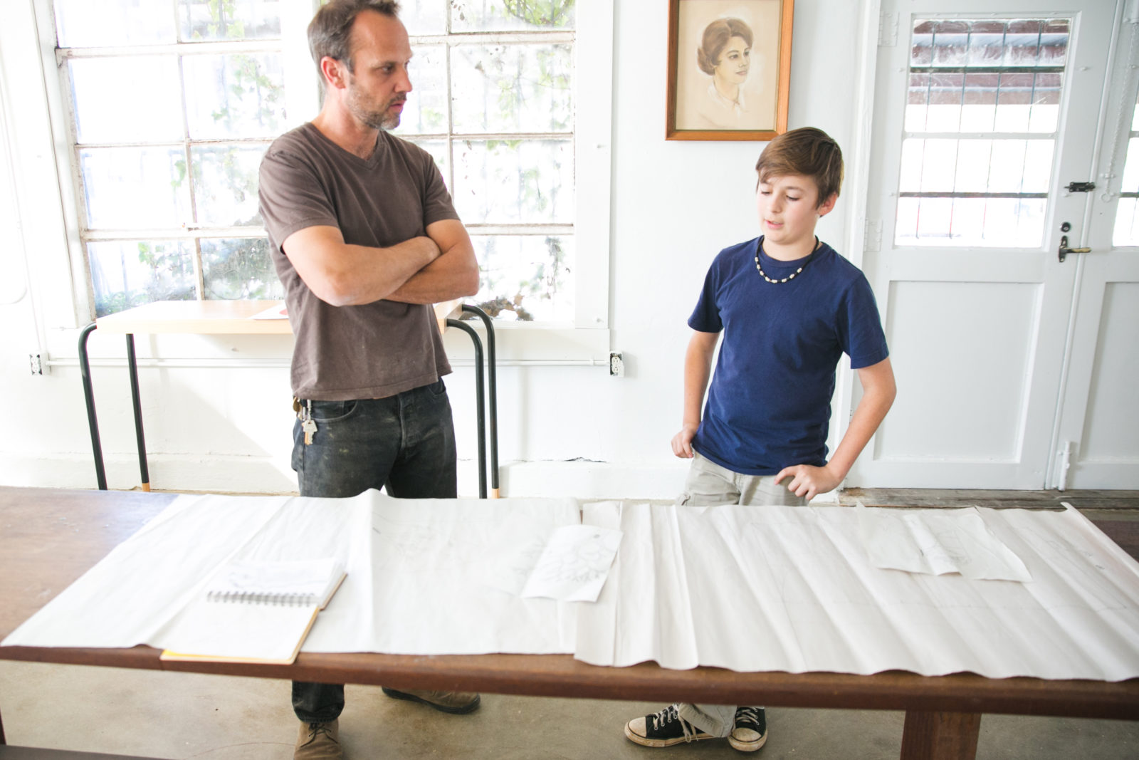 Brian David Johnson BIG ARTIST to little artist Joseph